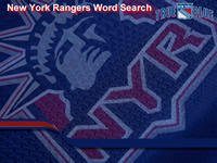 NY Rangers Word Search Word Search Puzzle Game