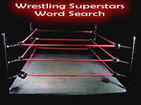 Wrestling Superstars Word Search Puzzle Game