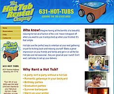 'Hot Tub Rentals Long Island' - found on Google top 10