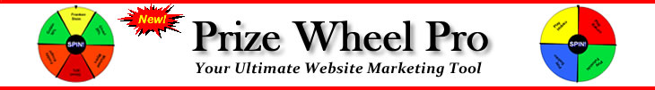 Virtual Online Prize Wheel Marketing Tool for your Visitors
